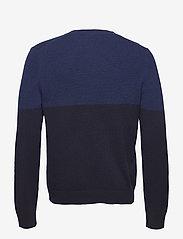 Filippa K - M. Wool Colour Block Sweater - pulls col rond - blue/navy - 1