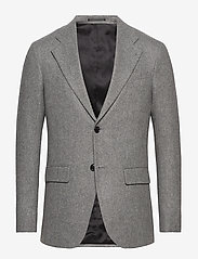 Filippa K - M. Sean Herringbone Jacket - enkeltradede blazere - grey herri - 0