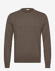 M. Cotton Merino Basic Sweater - DARK TAUPE