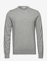 Filippa K - M. Cotton Merino Basic Sweater - basic knitwear - light grey - 0