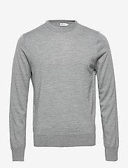 Filippa K - M. Merino Sweater - pulls col rond - grey mel. - 0