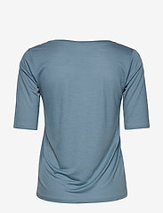 Filippa K - Tencel Scoop-neck Tee - basic t-shirts - blue heave - 1