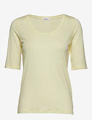 Filippa K - Tencel Scoop-neck Tee - t-shirts - pale lime - 0