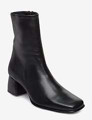 Filippa K - Eileen Leather Boot - enkellaarsjes met hak - black - 0