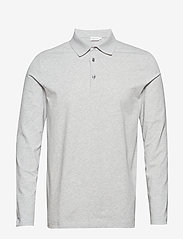 Filippa K - M. Luke Lycra Polo Shirt - lange mouwen - light grey - 0