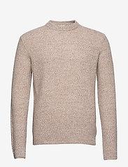 Filippa K - M. Tobias Sweater - basic strik - khaki beig - 0