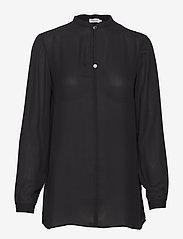 Filippa K - Ada Tunic Blouse - long sleeved blouses - black - 0