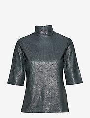 Filippa K - Amber Lurex Tee - short-sleeved blouses - blue grey/ - 0