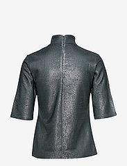 Filippa K - Amber Lurex Tee - short-sleeved blouses - blue grey/ - 1