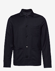 Filippa K - M. Louis Gabardine Jacket - overshirts - navy - 0