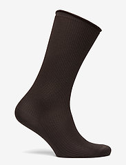 Filippa K - Silk Rib Sock - sokken - dark oak - 1