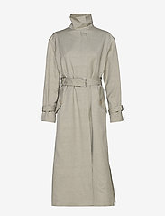 Filippa K - Geneva Coat - trenchcoats - light sage - 1