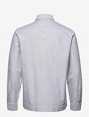 Filippa K - M. Zach Striped Overshirt - overshirts - blue grey/ - 1