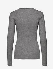 Filippa K - Hannah Top - basic t-shirts - grey melan - 1