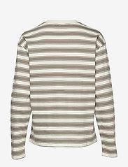 Filippa K - Linnett Top - stripede t-skjorter - green grey - 1