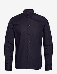 M. Paul Stretch Shirt - NAVY