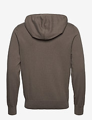 Filippa K - M. Arthur Knitted Hoodie - hoodies - dark taupe - 1