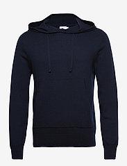 Filippa K - M. Arthur Knitted Hoodie - hoodies - navy - 0