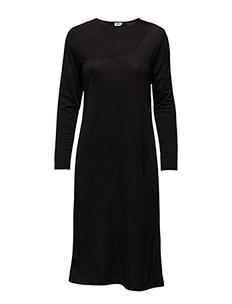 Drape Jersey Dress - BLACK