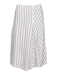 Irregular Striped Skirt - OFFWHITE/M