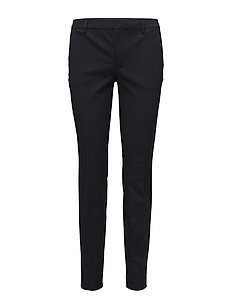 Sophia Cotton Stretch Trousers - straight leg trousers - navy