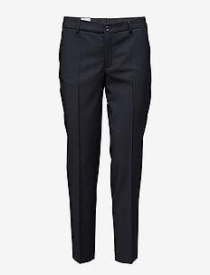 Luisa Cropped Cool Wool Slack - straight leg trousers - dk. navy
