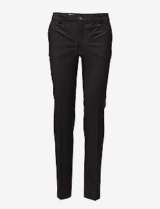 Luisa Cool Wool Trouser - broeken med straight ben - black