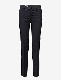 Luisa Cool Wool Trouser - broeken med straight ben - dk. navy