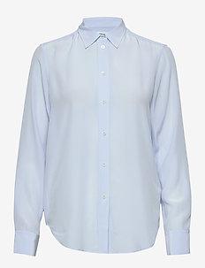 Classic Silk Shirt - langærmede skjorter - atlantic b