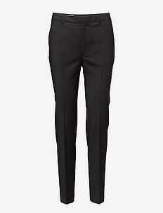 Fiona Peg Cool Wool Slacks - bukser med lige ben - black