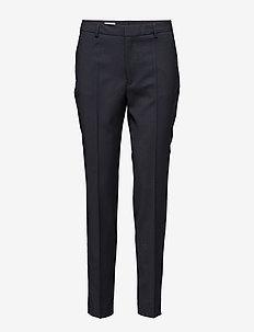 Fiona Peg Cool Wool Slacks - bukser med lige ben - dk. navy