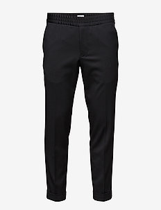 TERRY CROPPED TROUSER - puvunhousut - black