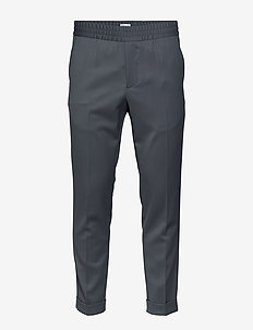 M. Terry Gabardine Pants - suit trousers - blue grey