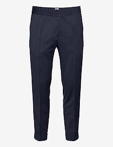 M. Terry Gabardine Pants - formele broeken - dark blue
