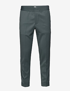 M. Terry Gabardine Pants - anzugshosen - dark mint