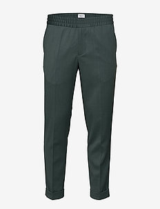 M. Terry Gabardine Pants - suit trousers - fern meln