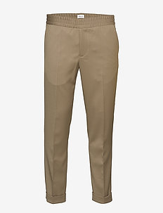 M. Terry Gabardine Pants - suit trousers - grey taupe