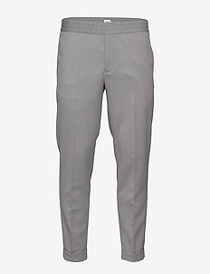 M. Terry Gabardine Pants - suit trousers - mid grey m
