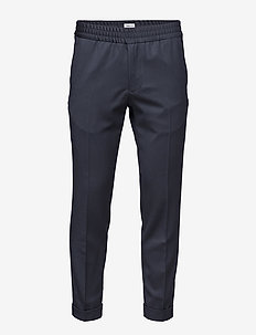 M. Terry Gabardine Pants - suit trousers - navy
