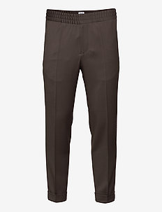TERRY CROPPED TROUSER - suit trousers - taupe