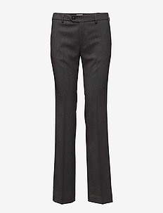 Lily Slacks - bukser med lige ben - grey mel.