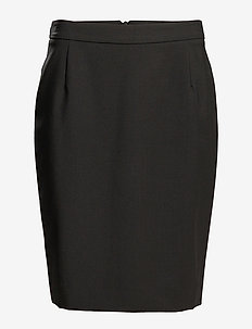 Cool Wool Pencil Skirt - BLACK