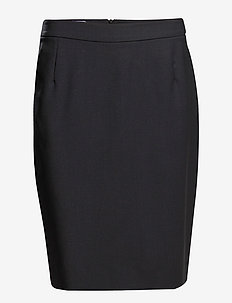 Cool Wool Pencil Skirt - DK. NAVY