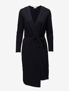 Jersey Wrap Dress - omslagskjoler - navy