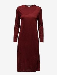 Drape Jersey Dress - robes en maille - warm red