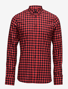 M. Pierre Check Shirt - casual - navy/fierc