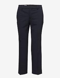 Linet Cropped Pant - rette bukser - navy