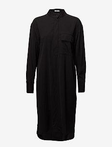 Paige Shirt Dress - skjortekjoler - black
