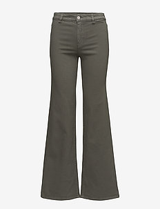 Amy Structured Denim - flared jeans - khaki gree