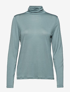 Tencel Polo Neck Top - RIVER